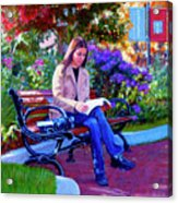 Studying Before Class Acrylic Print