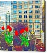 Stuff On The Terrace Acrylic Print
