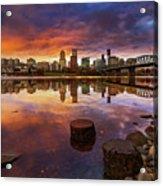 Stumptown Sunset Acrylic Print