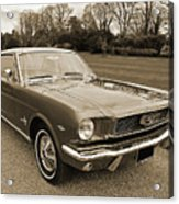 Stunning '66 Mustang In Sepia Acrylic Print