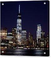 Stunning Nyc Skyline At Night Acrylic Print