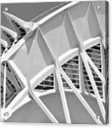 Stunning Structure - Black And White Acrylic Print