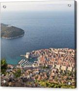 Stunning View Of Dubrovnik In Croatia Acrylic Print