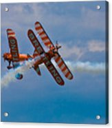 Stunt Biplanes With Wingwalkers Acrylic Print