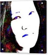 Stylized Woman's Portrait Acrylic Print