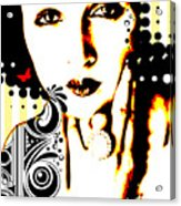 Subjected To Ink Acrylic Print