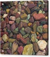 Submerged Lake Stones Acrylic Print