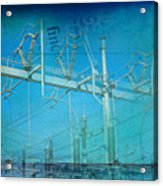 Substation Insulators Acrylic Print