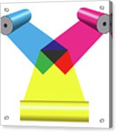 Subtractive Color Mixing With Print Cylinders Acrylic Print