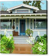 Suburban Arts And Crafts House Hayward California 8 Acrylic Print