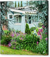 Suburban House Hayward, California 7, Suburbia Series Acrylic Print