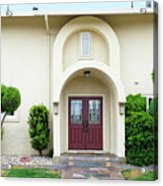 Modern Suburban House With Topiary Hayward California 31 Acrylic Print