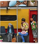Subway - Lonely Travellers Acrylic Print by Anne Klar
