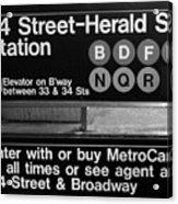 Subway 34 Street Acrylic Print