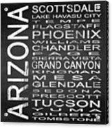 Subway Arizona State Square Acrylic Print