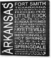 Subway Arkansas State Square Acrylic Print