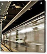 Subway Blur Acrylic Print