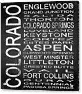 Subway Colorado State 2 Square Acrylic Print
