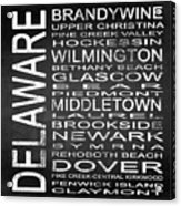 Subway Delaware State Square Acrylic Print