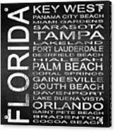 Subway Florida State 3 Square Acrylic Print