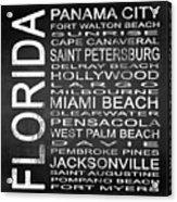 Subway Florida State Square Acrylic Print