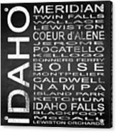 Subway Idaho State Square Acrylic Print