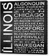 Subway Illinois State Square Acrylic Print