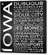 Subway Iowa State Square Acrylic Print