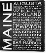 Subway Maine State Square Acrylic Print
