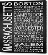 Subway Massachusetts State Square Acrylic Print