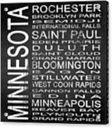Subway Minnesota State Square Acrylic Print