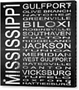 Subway Mississippi State Square Acrylic Print
