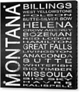 Subway Montana State Square Acrylic Print