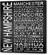 Subway New Hampshire State Square Acrylic Print