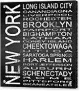Subway New York State 3 Square Acrylic Print