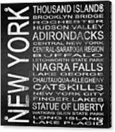 Subway New York State 4 Square Acrylic Print