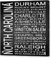 Subway North Carolina State Square Acrylic Print