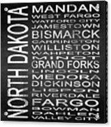 Subway North Dakota State Square Acrylic Print