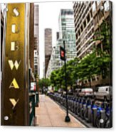 Subway Nyc Acrylic Print
