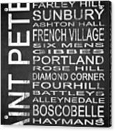 Subway Saint Peter Barbados 1 Acrylic Print
