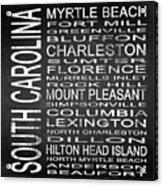 Subway South Carolina State Square Acrylic Print