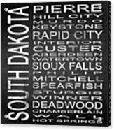 Subway South Dakota State Square Acrylic Print