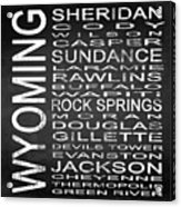 Subway Wyoming State Square Acrylic Print
