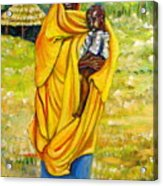 Sudanese Mother And Child Acrylic Print