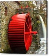 Sudbury Grist Mill Water Wheel Acrylic Print