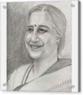 Sudha Murthy A Philanthropist  Acrylic Print