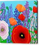 Sue's Flower Bed Acrylic Print