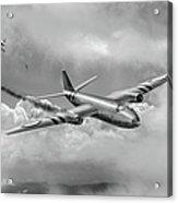 Suez Canberra Pr7 Shoot Down Bw Version Acrylic Print