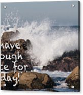 Sufficient Grace - Text Full Acrylic Print