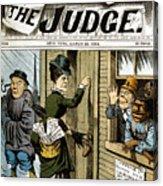 Suffrage Cartoon, 1884 Acrylic Print